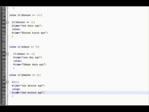 PHP Tutorial (Time Ago Part 2)