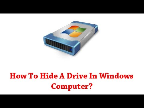 How To Hide A Drive In Windows Computer?