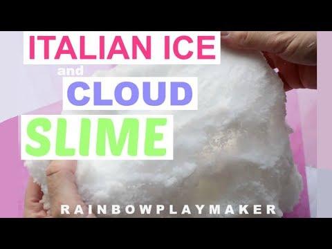BEST DIY SLIME IN THE WORLD!  ITALIAN ICEE + CLOUD DIY SLIME TUTORIAL! SATISFYING SLIME RECIPE!