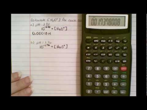 Calculate pH of hydronium concentration