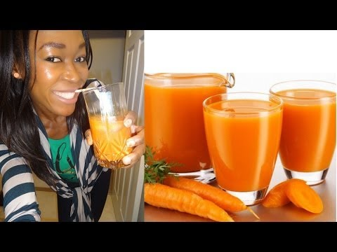 Easy Raw Carrot juice!  Fresh Carrot Juice