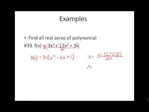 2 2 Higher Degree Polynomials