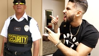 SECURITY GUARD DISRESPECTS FANS!! (KICKED HIM OUT)