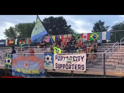 Sights and sounds from Muskegon Risers' 4-3 loss to Grand Rapids FC on May 25, 2018