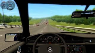 Mercedes Benz E-190 (city car driving)