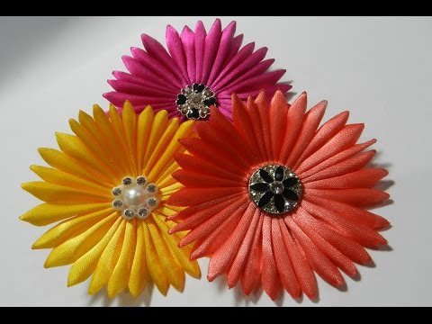Ribbon Daisy flower tutorial
