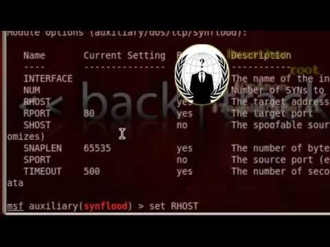 BackTrack 5   Ataque DDoS SynFlood, Metasploit, msf console
