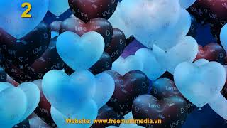 Video Background HD - Big Bubble Heart Styles