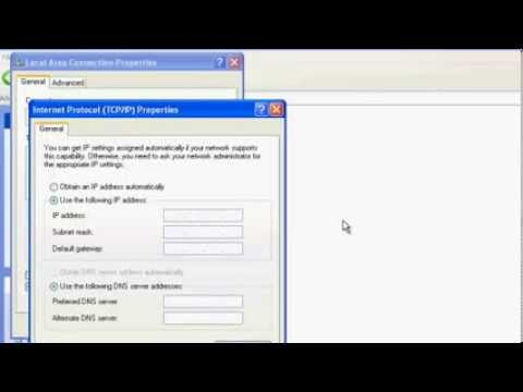 TQSoft v4 - Windows XP - Setting computer IP address to communicate with Fluke NetDAQ data logger