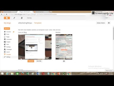 How to Implement Google Analytics Code in Blogger or Blogspot 2016   2 Methods