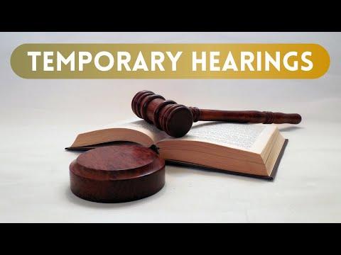Temporary Hearing - South Carolina Legal Services