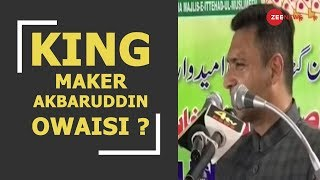 "Breaking: AIMIM leader Akbaruddin Owaisi claims to be ""King-maker"" for Telangana elections"
