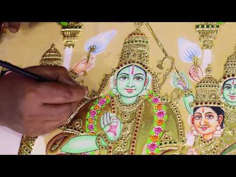 Making of Tanjore  Paintings by  Madhurya
