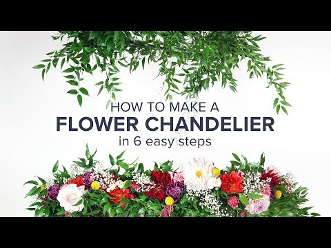 Flower Chandelier DIY for Your Next Party