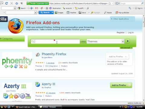 How to put themes on Mozilla Firefox browser