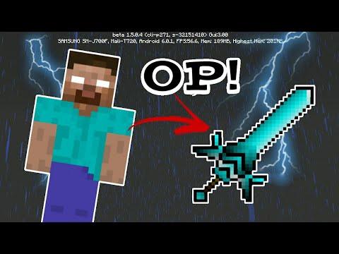 MCPE 1.4 How To Make Herobrine Sword | Command Block Creation