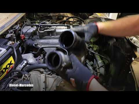 Mercedes W123 Removing Air Intake, Sound of Turbo