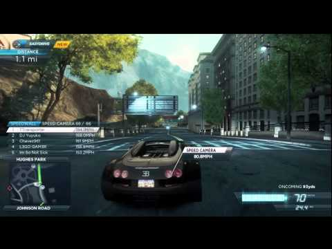 Need For Speed Most Wanted (2012) [Xbox 360]: Bugatti Veyron Grand Sport Vitesse Gameplay