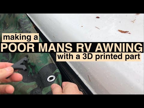 Quick DIY RV awning using 3D printed part