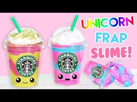 How to Make Starbucks Unicorn + Mermaid Frap FLUFFY SLIME! (No Borax)