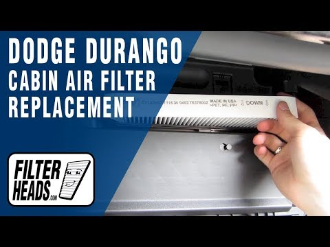 How to Replace Cabin Air Filter Dodge Durango