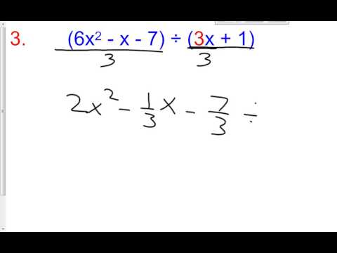 5 3 D Day 2 Dividing Using Synthetic Division with Coefficients other than 1