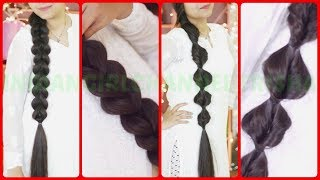 Easy 5 minute everyday Braid  hairstyles /hairstyle tutorial/indiangirlchannel trisha