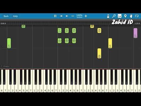 Lagu Anak AKU SEORANG KAPITEN Piano Tutorial (Belajar Musik)