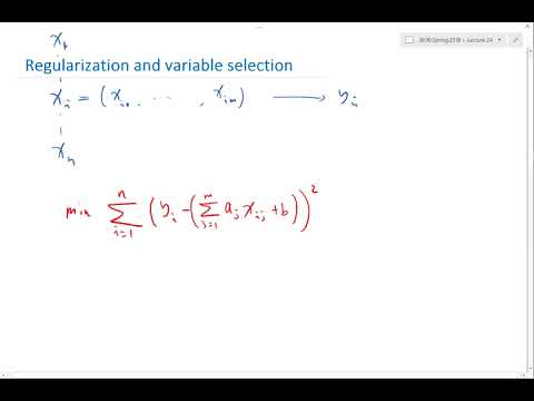 Regularization and variable selection Part 1