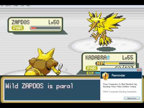 How To Find And Capture Zapdos In Pokemon Fire Red And Leaf Green