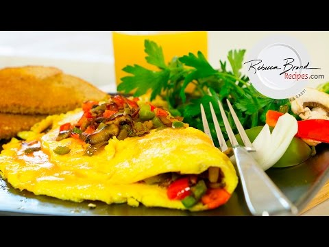 Vegetable Omelette with Cheese |Super Fast Veggie Recipe &  Fun Short Cuts