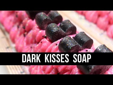 Dark Kisses Soap (+HOT PINK SOAP FROSTING)   Royalty Soaps