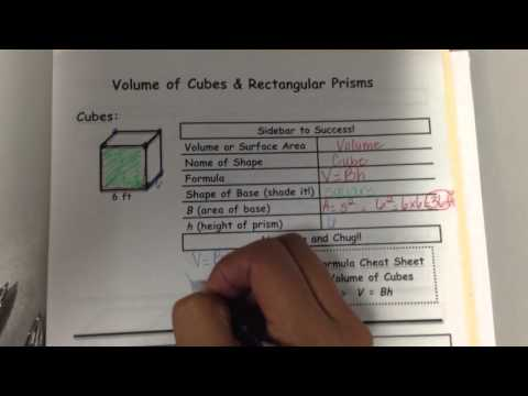Mrs. Trevino Volume of cubes and rectangular prisms