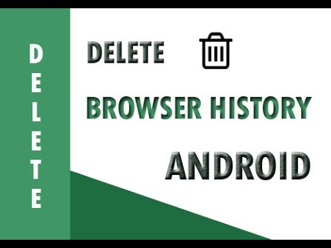 How to delete browser history on android