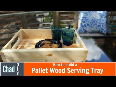 Serving Tray from Pallet Wood