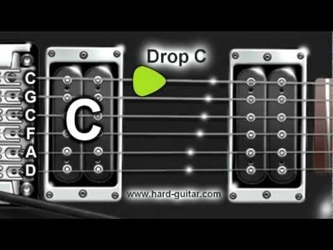 Drop C Guitar Tuner (C G C F A D Tuning)