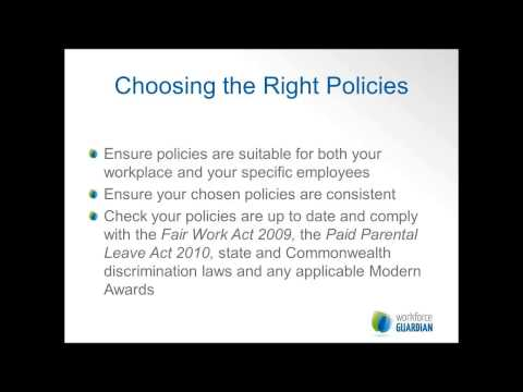Webinar: Policies and Procedures