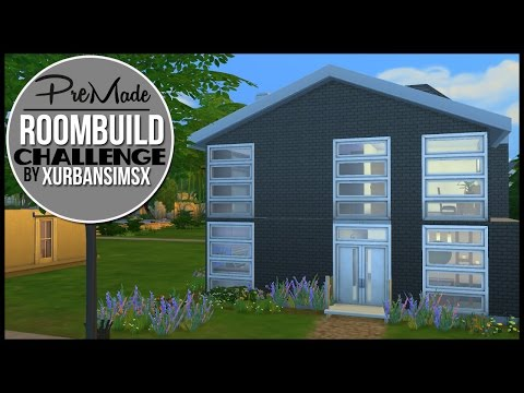 The Sims 4 | XUrbanSimsX | Pre-Made Room Build Challenge!