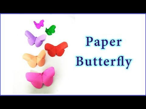 How to make paper butterfly    Origami    kids crafts