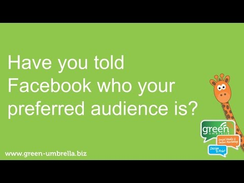 Facebook tip - set your page to a preferred audience