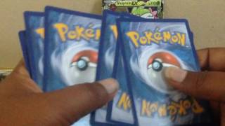 Opening a Pokemon 20th generations elite trainer box part 1.