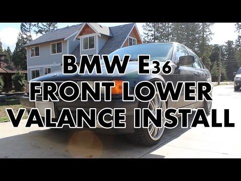 BMW E36 328i Non M3 Lip Install