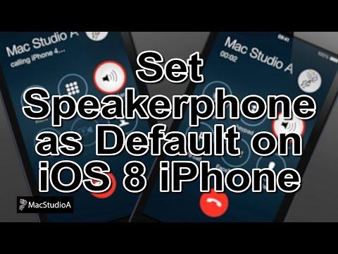 Using iPhone Speakerphone