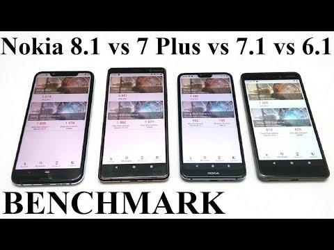 Nokia 8.1 vs 7 Plus vs 7.1 vs 6.1 - BENCHMARK COMPARISON