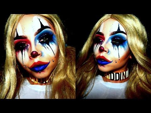 Sad Harlequin\Harley Quinn Clown Halloween Makeup