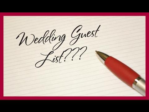 GUEST LIST TIPS!   WEDDING BELLS  