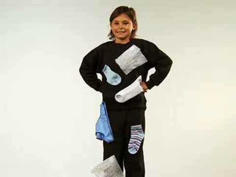 Easy Homemade Kid's Costume - Static Cling