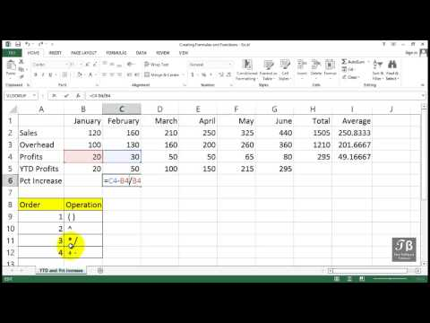 Working With Percentage Increment Formula   Excel 2013 Beginners Tutorial