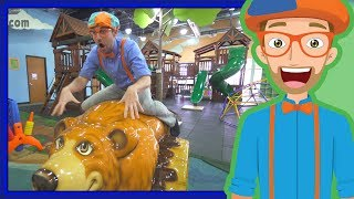 Educational Videos for Toddler by Blippi | An Indoor Playground Play Place