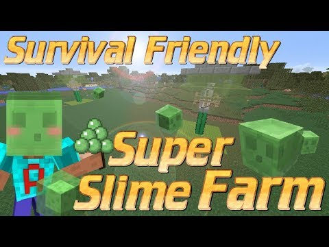 How to make a Slime Farm in Minecraft | Survival Friendly Slime Farm Minecraft Tutorial No Redstone